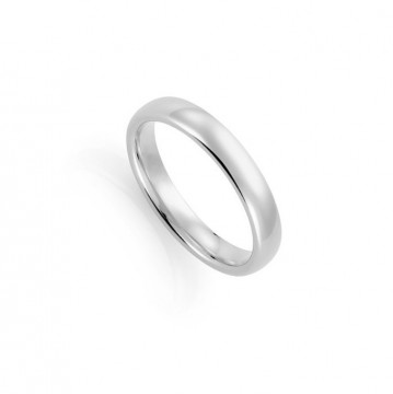1289204 4 MM HVITT GULL RING - OVAL