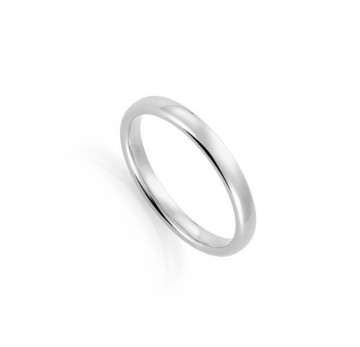 1289203 3 MM HVITT GULL RING - OVAL