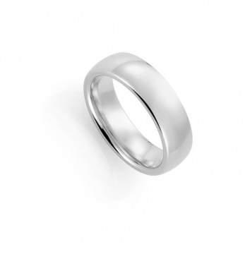 1289207 7 MM  HVITT GULL RING - OVAL