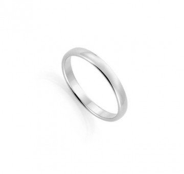 1289803 3 MM HVITT GULL RING - HVELVET / FLAT