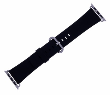 S41476 SORT SKINNREIM TIL iWATCH - BREDDE: 42 MM