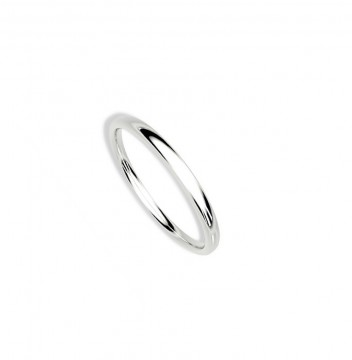 1289902 2 MM HVITT GULL RING - HVELVET / BUET