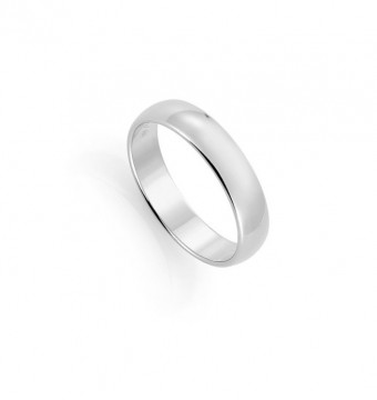 1289805 5 MM HVITT GULL RING - HVELVET / FLAT
