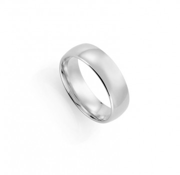 1289907 7 MM HVITT GULL RING - HVELVET / BUET