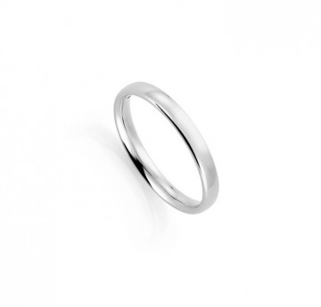 1289903 3 MM HVITT GULL RING - HVELVET / BUET